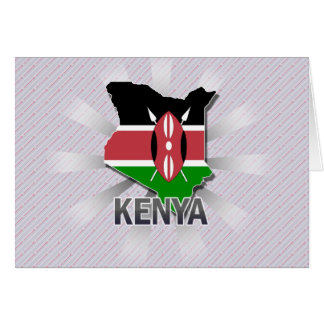 Kenya Flag Map 2.0 Card
