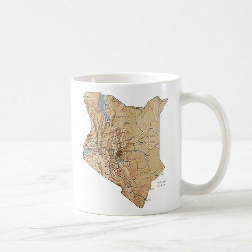 Kenya Flag ~ Map Mug