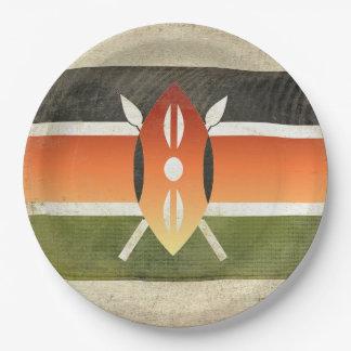 Kenya Flag Paper Plates