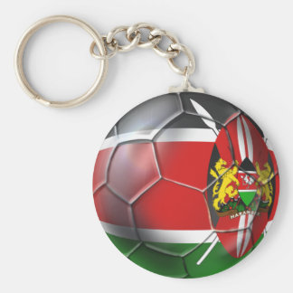 Kenya flag soccer ball soccer players gifts basic round button keychain