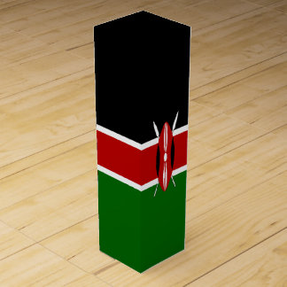Kenya Flag Wine Gift Box