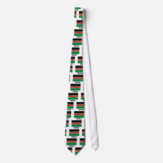 Kenya Flag with name in Russian Tie
