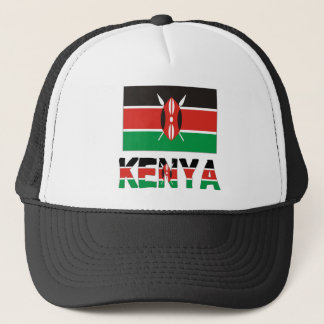 Kenya Flag & Word Trucker Hat