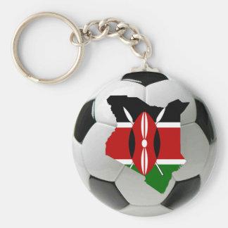 Kenya football soccer keychain