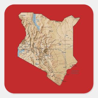 Kenya Map Sticker