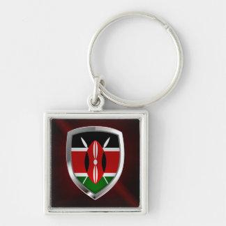 Kenya Metallic Emblem Keychain