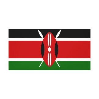 Kenya National World Flag Canvas Print