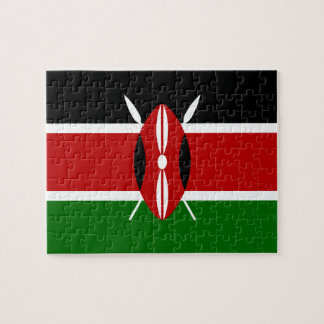 Kenya National World Flag Jigsaw Puzzle