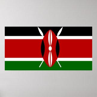 Kenya National World Flag Poster