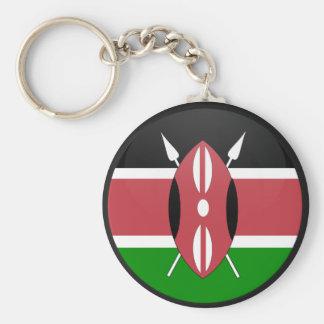 Kenya quality Flag Circle Keychain