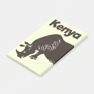 Kenya Rhino African vintage poster Post-it Notes