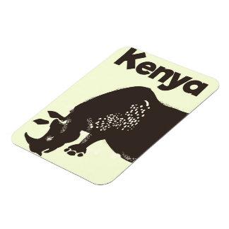 Kenya Rhino African vintage poster Rectangular Photo Magnet