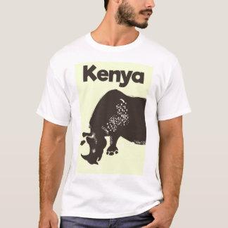 Kenya Rhino African vintage poster T-Shirt