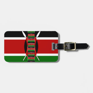 Kenya Seamless Flags border frames Bag Tag