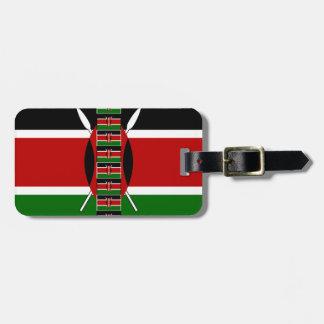 Kenya Seamless Flags border frames Luggage Tag