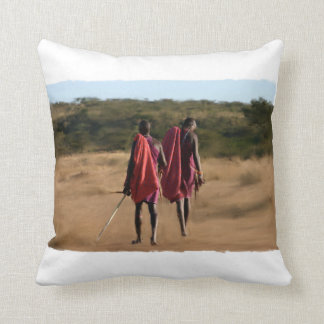 Kenya Warriors Throw Pillow