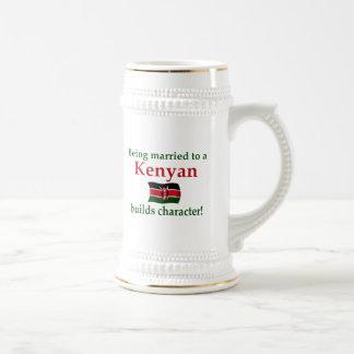 Kenyan Builds Character 18 Oz Beer Stein