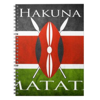 Kenyan Flag- Hakuna Matata Notebook