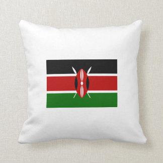 Kenyan Flag Throw Pillow