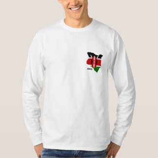 Kenyan Map and Flag long sleeved Men's Tshirt