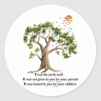 Kenyan Nature Proverb Classic Round Sticker