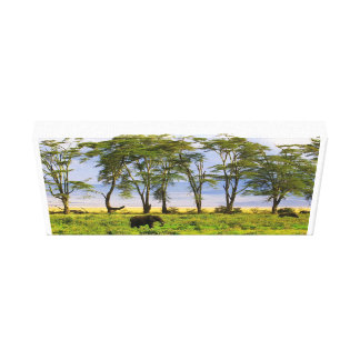 Kenyas African Elephants Canvas Print