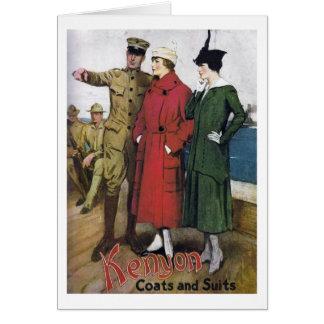Kenyon Coats & Suits Ad, Greeting Card