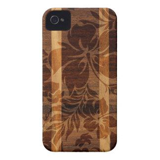 Keokea Beach Faux Wood Surfboard iPhone 4 Cases