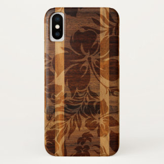 Keokea Beach Faux Wood Surfboard iPhone X Case
