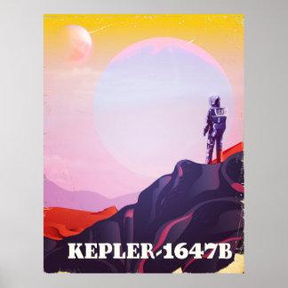 Kepler - 1647B travel poster