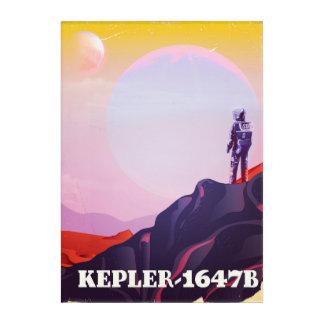 Kepler - 1647B travel poster Acrylic Print