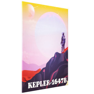 Kepler - 1647B travel poster Canvas Print