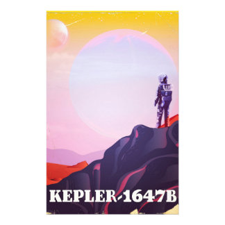 Kepler - 1647B travel poster Stationery