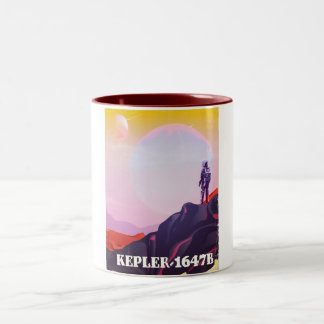 Kepler - 1647B travel poster Two-Tone Coffee Mug