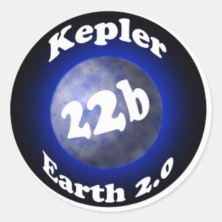 Kepler 22b classic round sticker