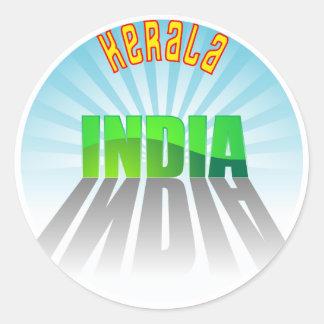 Kerala Classic Round Sticker