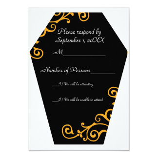 Keranda Ebony (Amber) RSVP Card