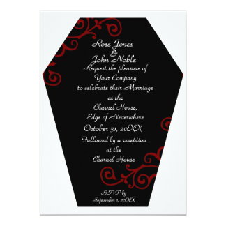 Keranda Ebony (Red) Wedding Invitation