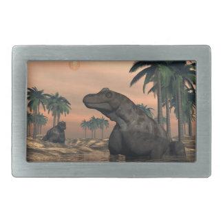 Keratocephalus dinosaurs - 3D render Belt Buckles