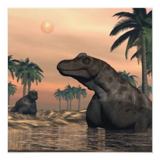 Keratocephalus dinosaurs - 3D render Card