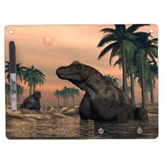 Keratocephalus dinosaurs - 3D render Dry Erase Board With Keychain Holder
