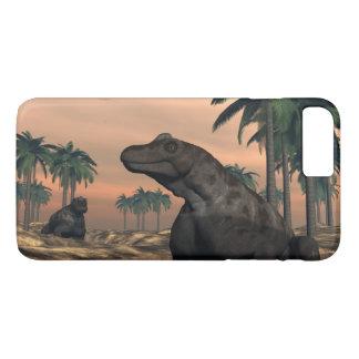 Keratocephalus dinosaurs - 3D render iPhone 8 Plus/7 Plus Case