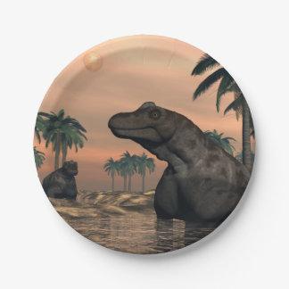 Keratocephalus dinosaurs - 3D render Paper Plate