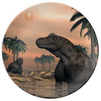 Keratocephalus dinosaurs - 3D render Plate