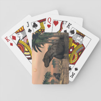 Keratocephalus dinosaurs - 3D render Playing Cards