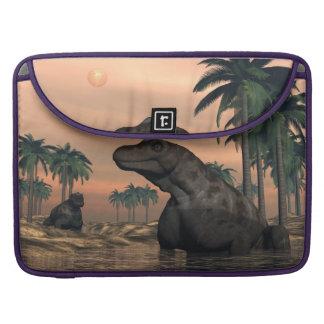 Keratocephalus dinosaurs - 3D render Sleeve For MacBooks