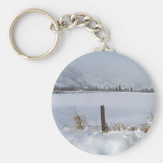 Keremeos field of Snow Basic Round Button Keychain