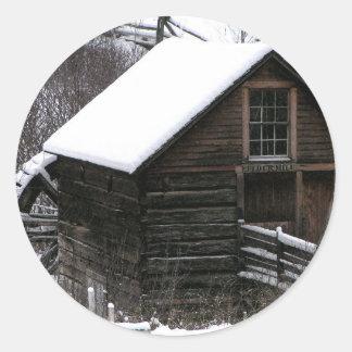 Keremeos Grist Mill in Winter Classic Round Sticker