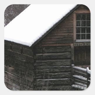 Keremeos Grist Mill in Winter Square Sticker