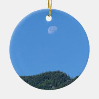 Keremeos Moon Round Ceramic Ornament